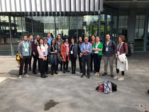 The PERFORM and EUCLIDS team standing together for a group photo at the ESPID 2019 meeting